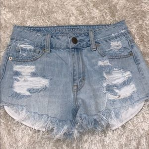 💥American eagle high waisted denim shorts